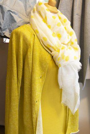 Tanja Jablonski Shop Damenmode Mode Dreieich Cardigan Trendfarbe Gelb